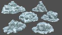 3D model ice rock