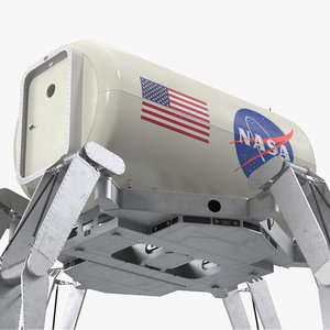 athlete lunar rover rigged model