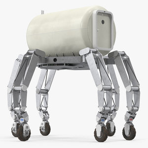 3D athlete lunar rover rigged model