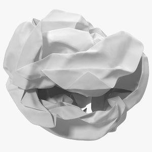 crumpled paper ball 3D model