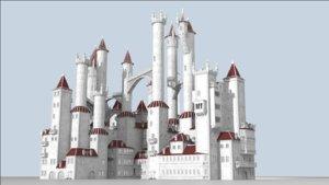 houdini generator castles randomness 3D model