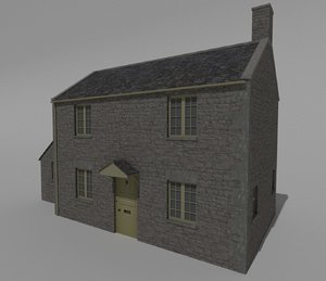 3D british stone house model