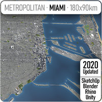 3D city miami metropolitan area model
