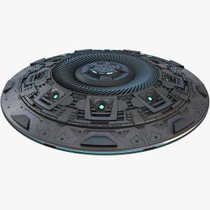 3D model ufo object pbr