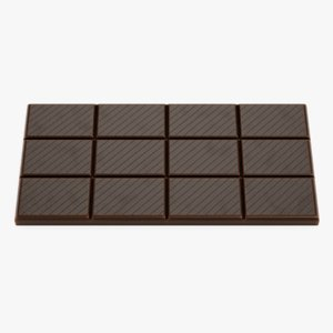 3D chocolate bar 3 model
