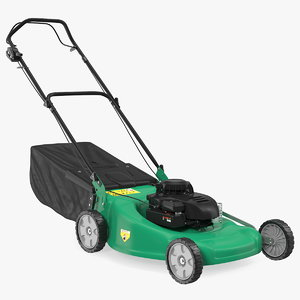 cordless push lawn mower 3D model