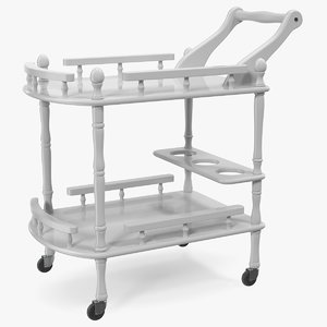 hotel style trolley serving 3D model