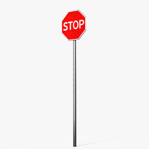 traffic sign stop 3D