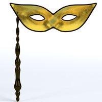 handheld carnival mask 3D model