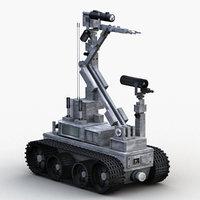bomb disposal robot 3D model