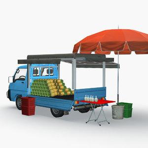 pineapple truck 3D model