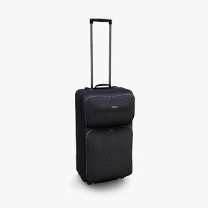 3D black suitcase