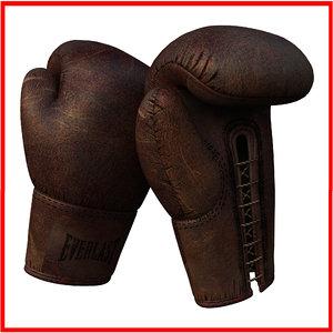 3ds max old vintage antique boxing gloves