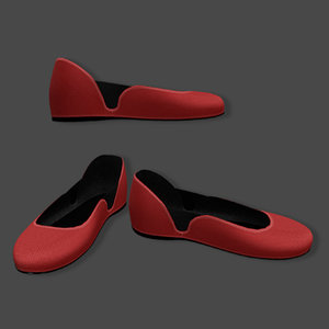 flats red 3D model