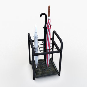 umbrella rack 3D model