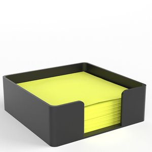 3D sticky notes holder model