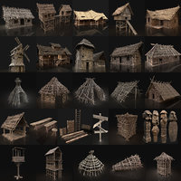 AAA NEXT-GEN HUGE MEDIEVAL VILLAGE SETTLEMENT BUILDER COLLECTION