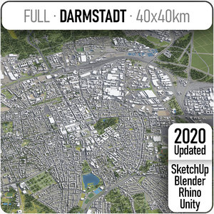 darmstadt surrounding - 3D model