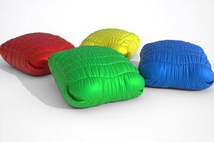 3D poufs pillow