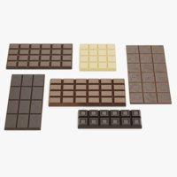 3D chocolate bars model