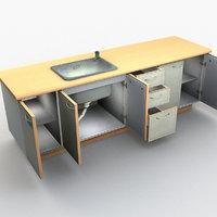 3D kitchen unit