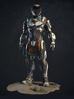 Lunar Suit  PBR Sci-Fi Character