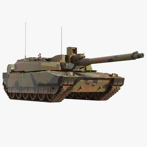 leclerc french main battle tank 3D model