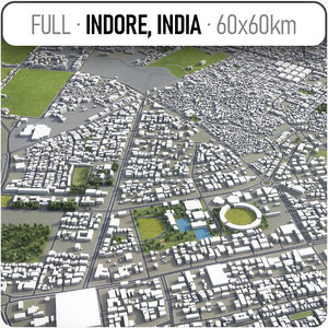 indore surrounding - 3D