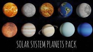 3D solar planets 8k