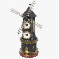 windmill clock 3D model