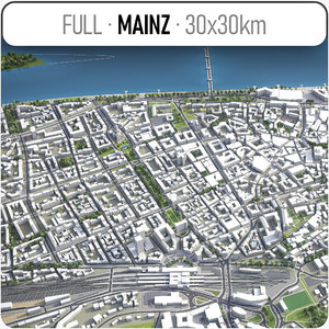 mainz surrounding - 3D model