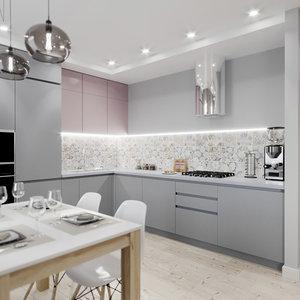 living kitchen hallway 3D model