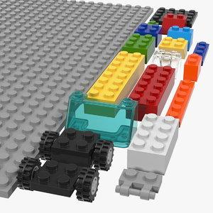 toy building blocks generic 3D model