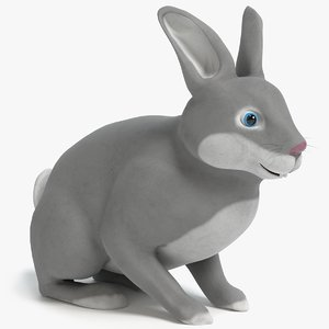 3D cartoon rabbit