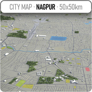 3D model nagpur surrounding -