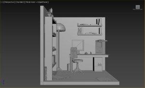 3D child s room model