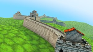 great wall cartoon 3D