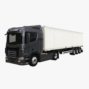 generic container trailer 3D model