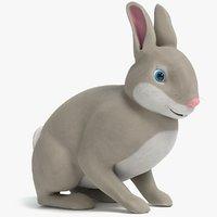 cartoon rabbit 2 3D