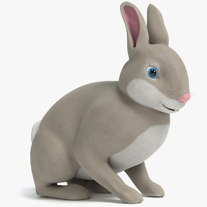 cartoon rabbit 2 3D