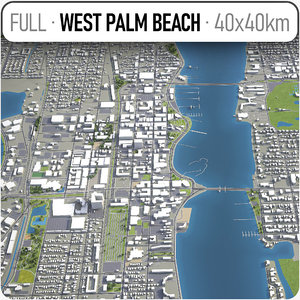 west palm beach surrounding 3D model