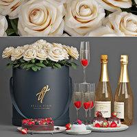 Champagne decorative set