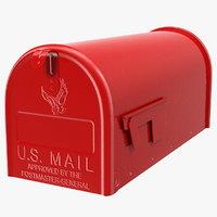 american design mailbox mail 3D