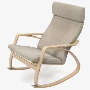 rocking chair brown 3D model