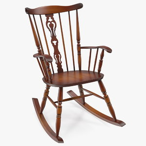vintage wooden rocking chair model