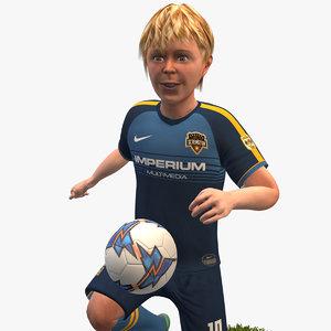 rigged soccer player 4k 3D model