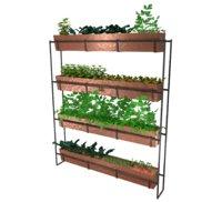 3D copper vertical farming planters