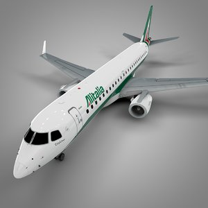 3D alitalia embraer190 l584 model