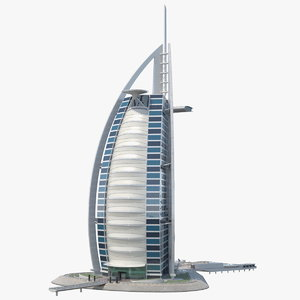 3D burj al arab luxury