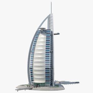 3D burj al arab luxury